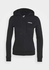 adidas Performance - Zip-up hoodie - black/white - 4