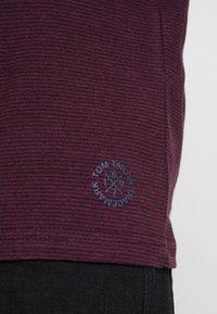TOM TAILOR - STRIPED LONGSLEEVE - Long sleeved top - burgundy - 5