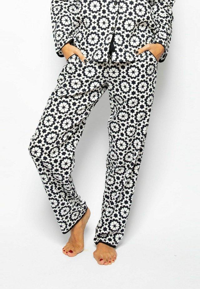 Pyjamabroek - black floral