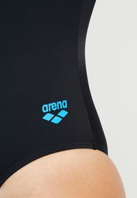 Arena - TANIA CLIP BACK ONE PIECE - Swimsuit - black/turquoise - 5