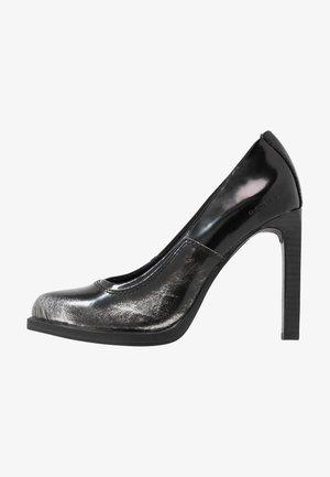 STRETT - High heels - dark silver/dark black