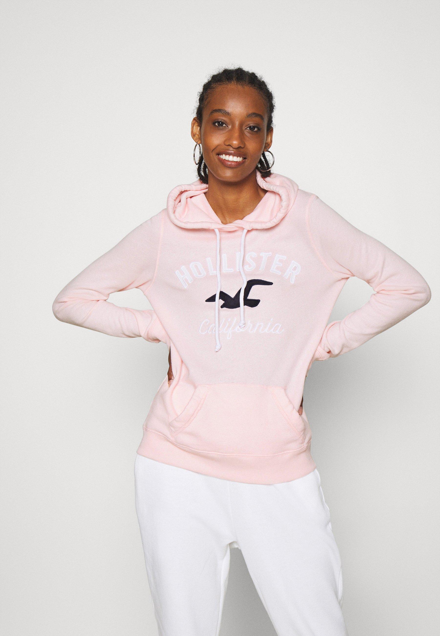 Hollister Co. TERRY TECH CORE - Felpa con cappuccio - pink - Abbigliamento da donna Sbrigati
