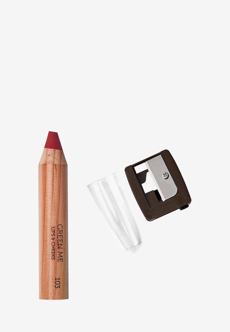 KIKO Milano - GREEN ME LIPS & CHEEKS - Makeup set - 103 poppy red