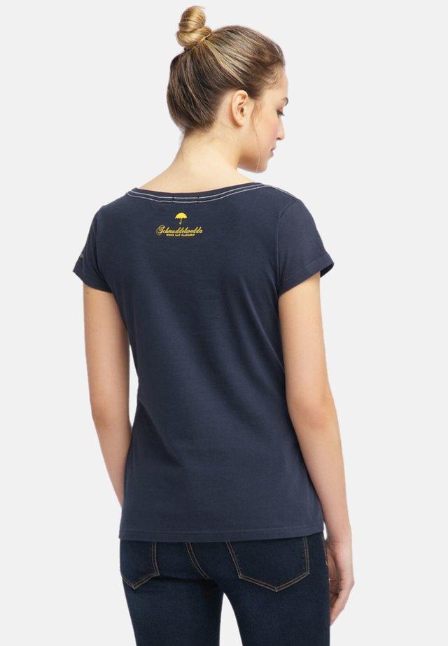 T-shirt med print - dark marine