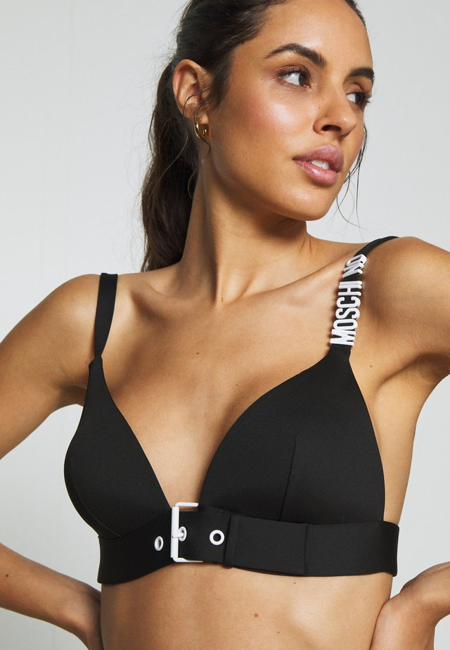 TRIANGLE BRA - Bikini pezzo sopra - black