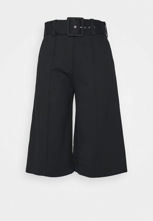 BELTED PONTI CULOTTES - Kalhoty - dark navy
