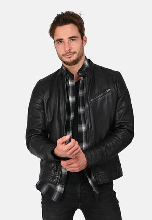 STEEVE - Leather jacket - black
