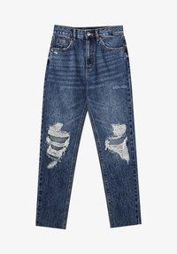 PULL&BEAR - MOM - Relaxed fit jeans - mottled blue - 9
