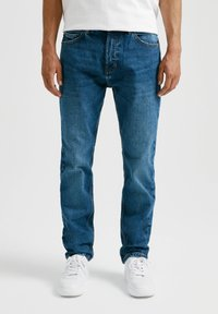 PULL&BEAR - Straight leg jeans - mottled light blue - 0