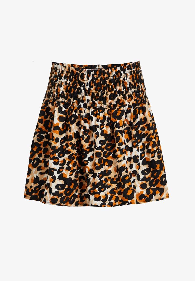 WE Fashion - MET LUIPAARDDESSIN - Pleated skirt - multi-coloured