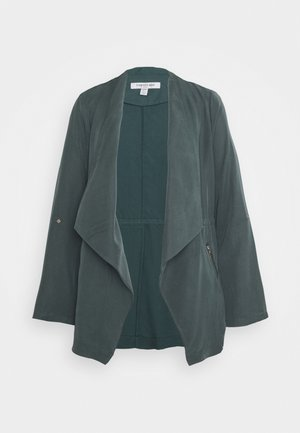 KAT ZIP DETAIL WATERFALL JACKET - Blazer - pine blue