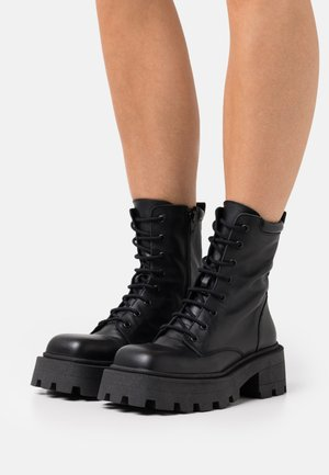 DIADESSIE LACED UP BOOT - Lace-up ankle boots - black