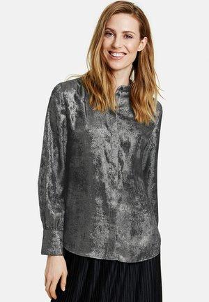 Button-down blouse - schwarz/ silber druck