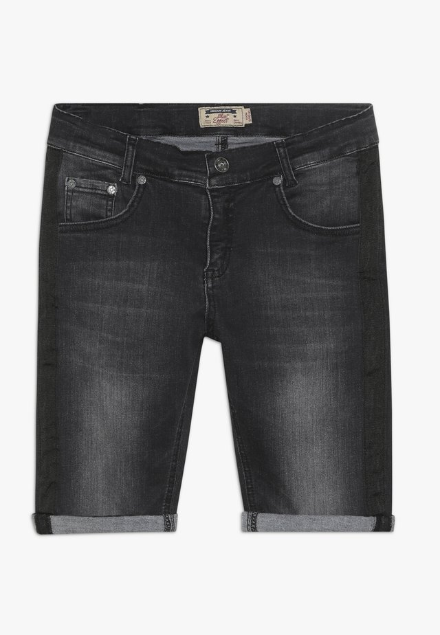 BOYS STREIFEN - Shorts di jeans - black soft used