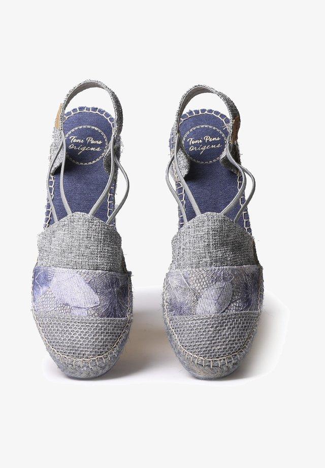 TOURS - Sandales compensées - blue