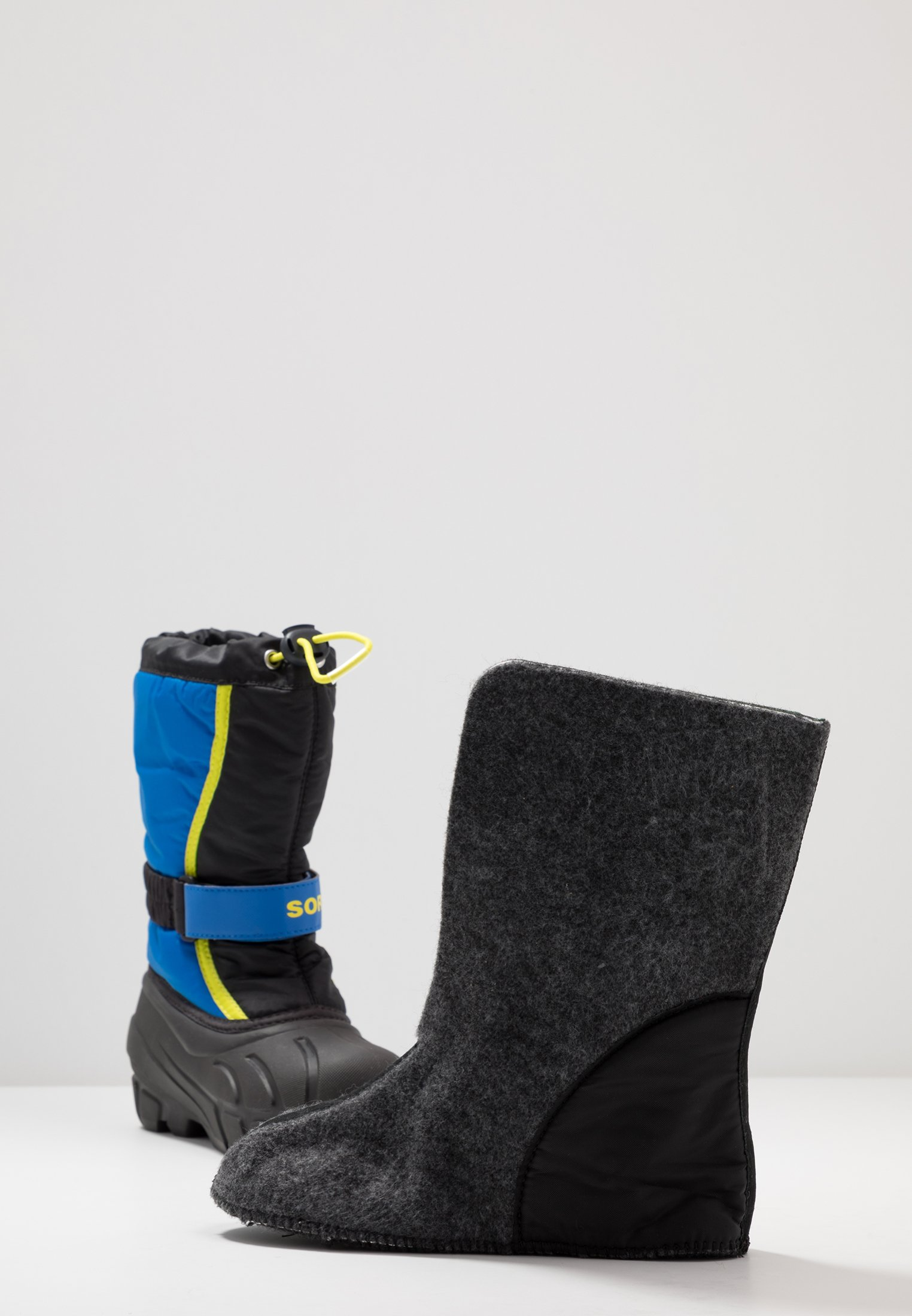 Buy Cheapest Sorel YOUTH FLURRY - Winter boots - black/super blue   kids shoes 2020 pOSs3