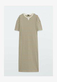 Massimo Dutti - Jersey dress - khaki - 0