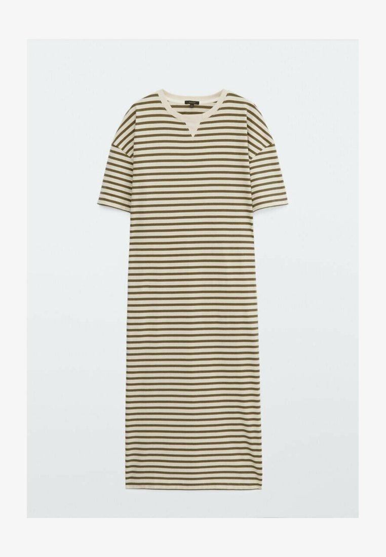 Massimo Dutti - Jersey dress - khaki