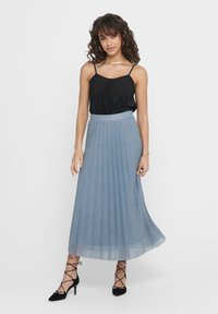 ONLY - Pleated skirt - Faded Denim - 0