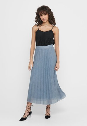 Pleated skirt - Faded Denim