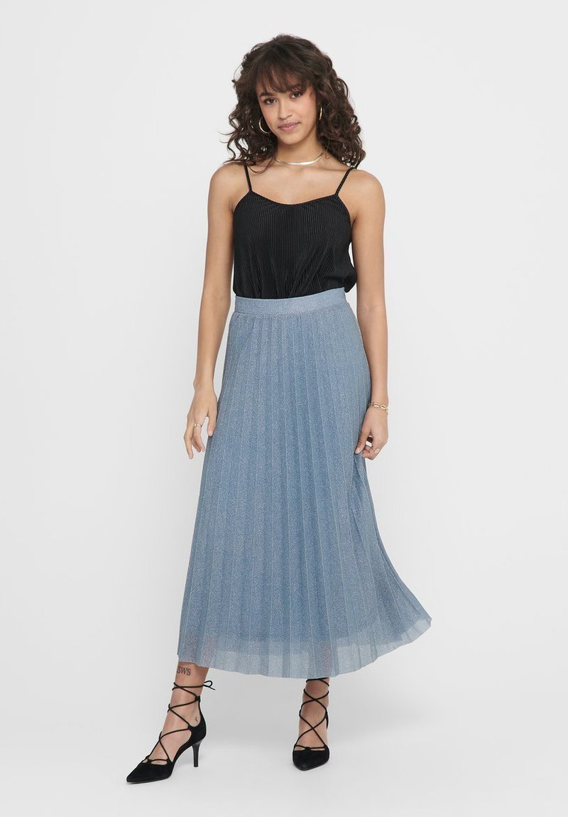 ONLY - Pleated skirt - Faded Denim