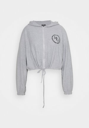 CROPPED HOODIE WAFFLE MISSGUIDED - Sweatshirt - grey