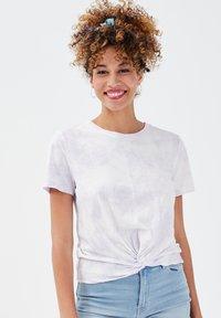 Cache Cache - CACHE CACHE KURZÄRMLIGES T-SHIRT - T-shirt print - mauve - 0