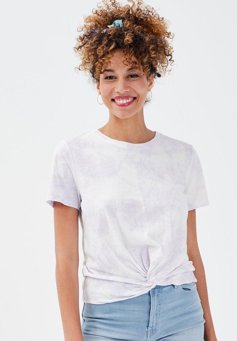 Cache Cache - CACHE CACHE KURZÄRMLIGES T-SHIRT - T-shirt print - mauve