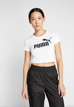 FITTED TEE - Camiseta estampada - puma white