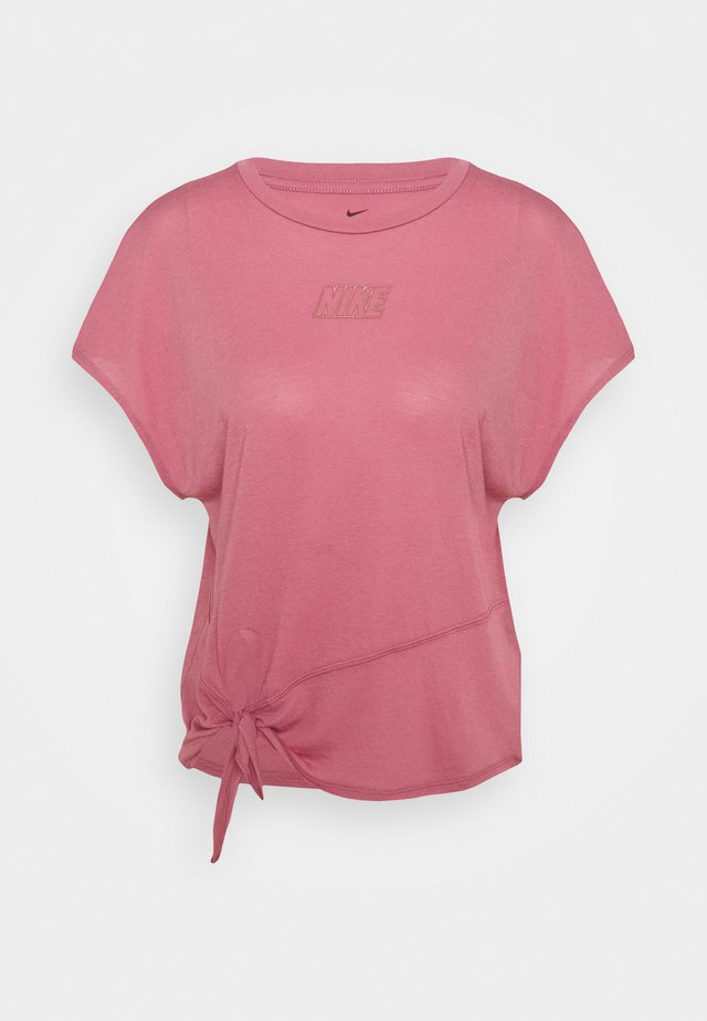 DRY TIE - Camiseta básica - desert berry/red bronze