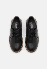 Friboo - LEATHER - Šněrovací boty - black - 3
