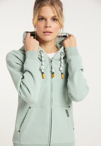 Schmuddelwedda - Zip-up sweatshirt - rauchmint melange - 3