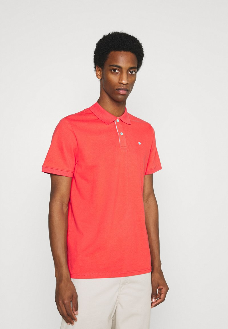 TOM TAILOR - BASIC WITH CONTRAST - Polo shirt - plain red