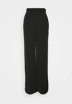 HIGH WAISTED WIDE LEG SUIT PANTS - Trousers - black