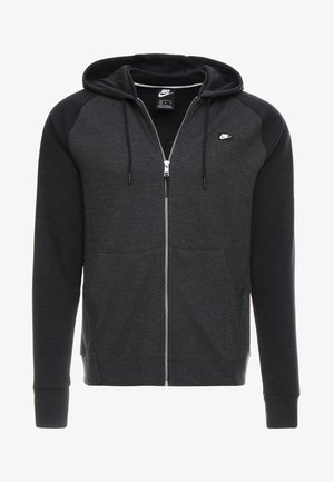OPTIC HOODIE - Mikina na zip - black