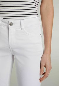 Oui - Trousers - optic white - 4
