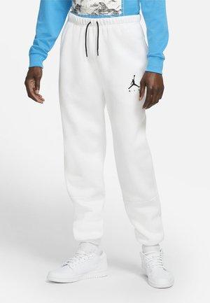 Tracksuit bottoms - white/white/black