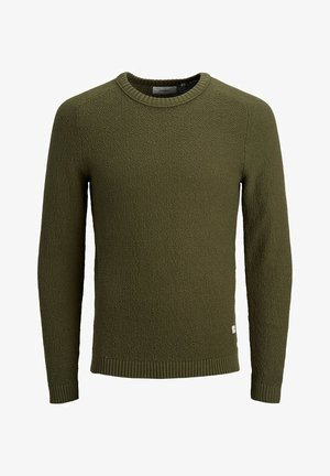 Strikpullover /Striktrøjer - olive night