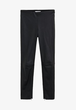 LOGO - Trousers - black