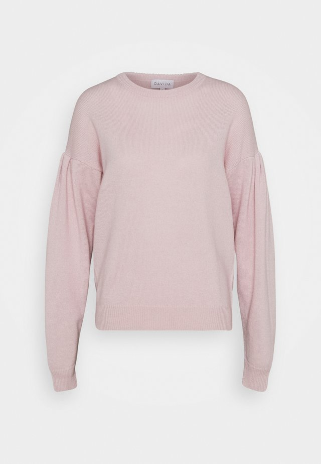VOLUME SLEEVE SWEATER - Trui - light pink