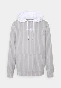 SIKSILK - DUAL STRIPE OVERHEAD HOODIE - Pitkähihainen paita - grey/white - 3