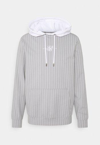 DUAL STRIPE OVERHEAD HOODIE - Långärmad tröja - grey/white