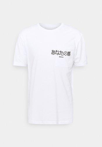 POCKET - Print T-shirt - white