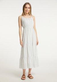 DreiMaster - Maxi dress - weiss grau - 0