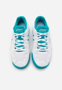 ASICS - GEL-RESOLUTION 8 UNISEX - Multicourt tennis shoes - white/lagoon - 3