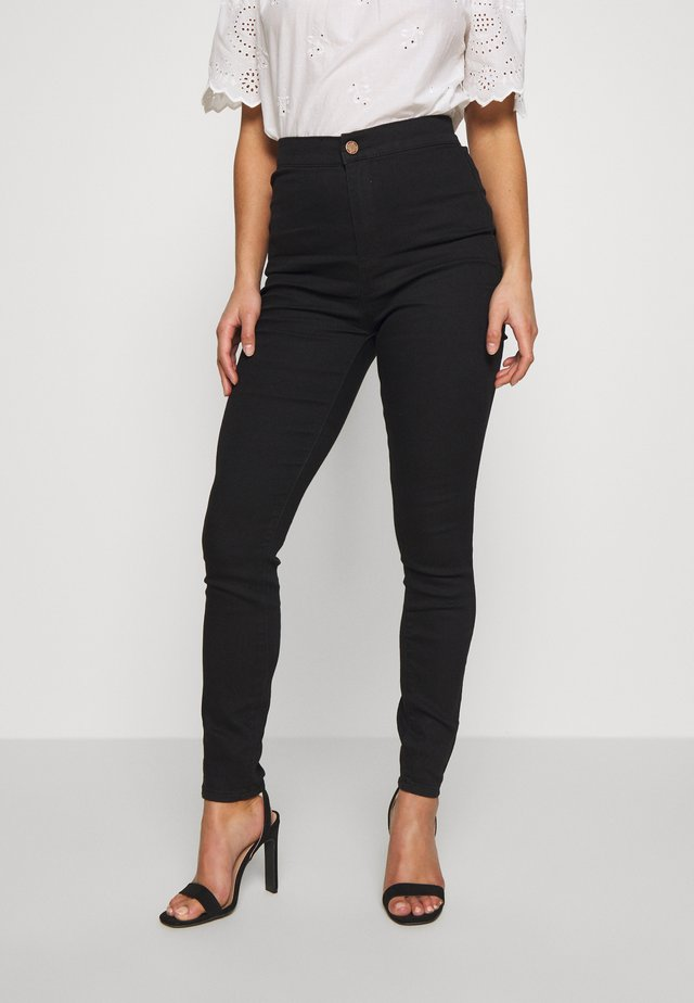 HIGH RISE - Jeans Skinny - black