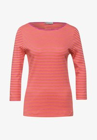 Street One - MIT STREIFEN - Long sleeved top - orange - 3