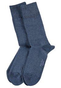 FALKE - HAPPY 2-PACK - Socks - mottled blue - 3