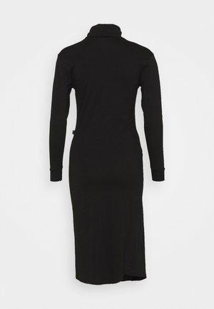TURTLE NECK DRESS - Pouzdrové šaty - black