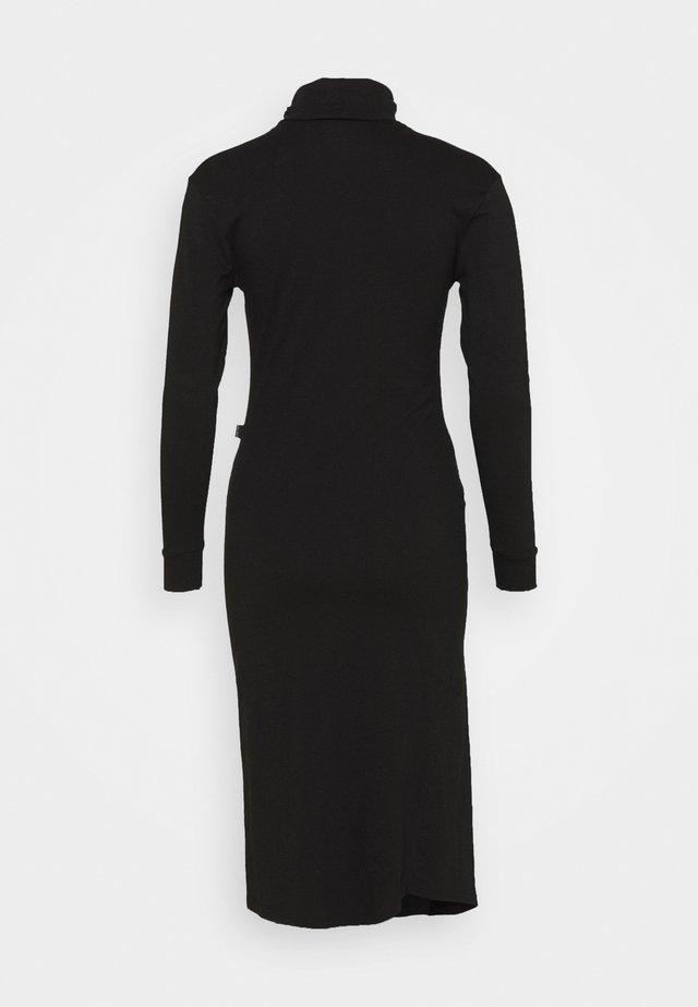 TURTLE NECK DRESS - Kotelomekko - black